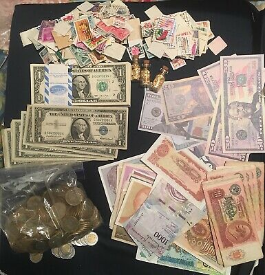 Mixed Lot,silver Coins,stamps & More... This Is What You Getting For A $50 !