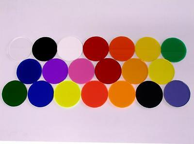 Acrylic Base Disk Circle Various Colours 3mm Thick 20mm to 100mm Diameter
