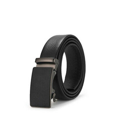 Ratchet Automatic Buckle Men's Leather Dress Belt Leisure Business Belt