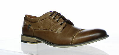 0659dae2f69 STEVE MADDEN MENS Jagwar Tan Oxford Dress Shoe Size 11 (192485 ...