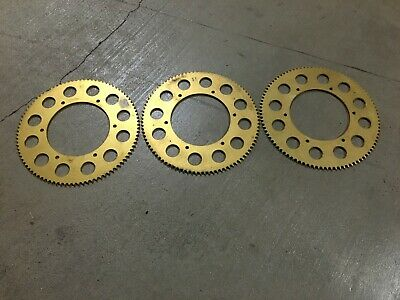 3 Racing Shifter Kart Gold Anodized Sprockets 219 chain 90T 91T 92T GSE race 125