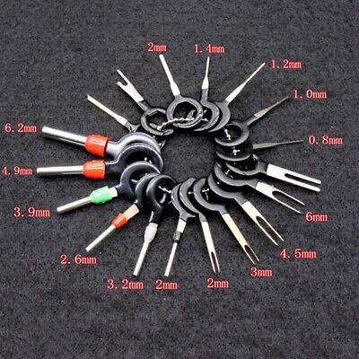 18x Car Wire Terminal Removal Tools Kit Wiring Connector Pins Extractor Puller