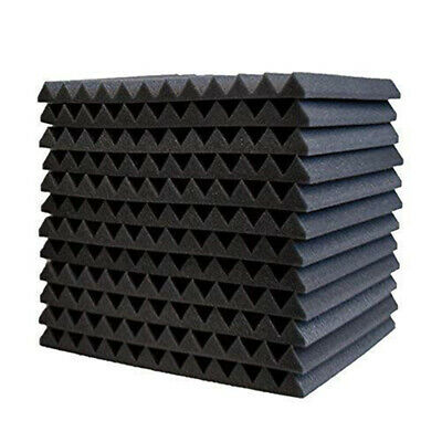 Recording Studio Soundproof Wedge Foam Video Room Sound Noise Insulation Y1M2