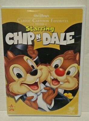 Walt Disneys Classic Cartoon Favorites Starring Chip n Dale  DVD, 2005 AUTHENTIC