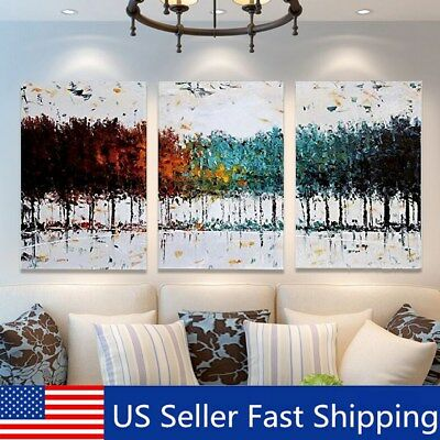 3Pcs Modern Abstract Canvas Print Painting Picture Wall Oil Home Decor Framed !