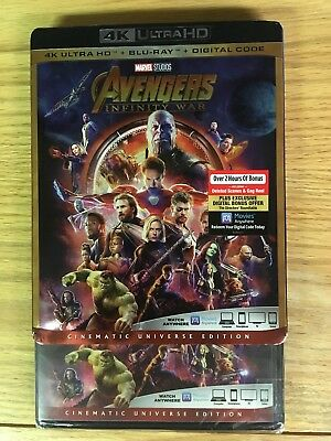 Avengers Infinity War (4k Ultra HD/Blu ray) New, but NO Digital Read Description