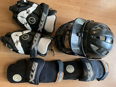 Lacrosse Helmet, Gloves, Arm Guards + Other Items