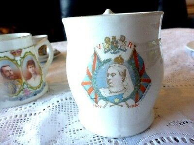 Antique Queen Victoria Diamond Jubilee 1837 - 1897 Large Mug A/f Free Post Aus