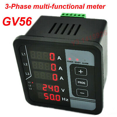 GV56 Digital 3 Phase AC Voltage Frequency Current  Multi-functions Panel Meter