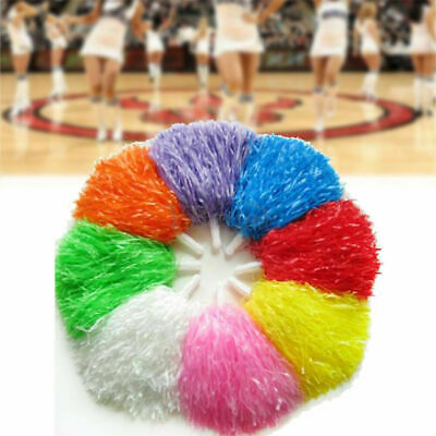 2x Poms Cheerleader Cheerleading Cheer Pom Dance Party Sports Competition Game.