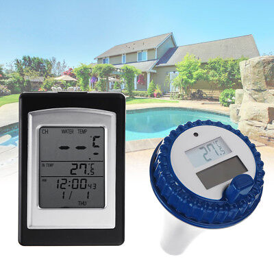 Solar Sensor Wireless Waterproof Swimming Pool Tub Thermometer Floating Receiver