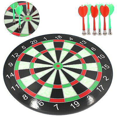 15'' Magnetic DartBoard 6 Darts Party Fun Game Set Gift Safety Dart Board Kids
