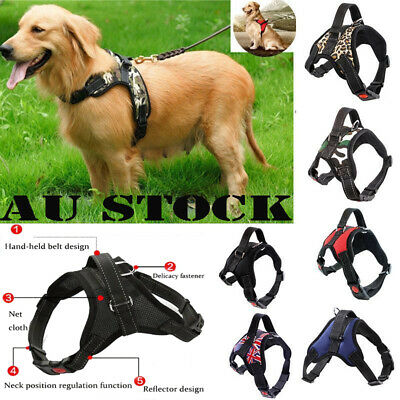 No Pull Adjustable Dog Pet Vest Harness Quality Nylon Pet Puppy Large for S~XXL