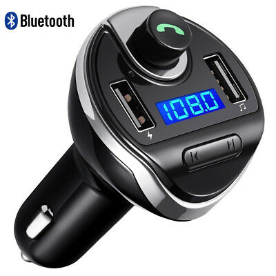 Wireless Bluetooth Car Kit FM Transmitter HandsFree Calling Smartphone Universal