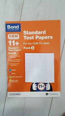 Bond-Standard Test Papers-For the CEM 11+ Tests - RRP £9.99. Eleven Plus-Pack 2