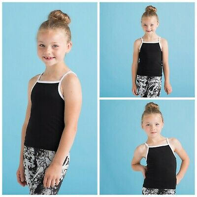 Kids Girls Child Retro Stretch Vest Strappy Tank Top Crop Cami Halter Neck Top