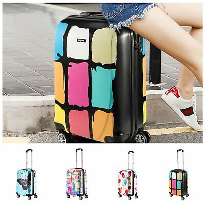 """For Jet2 EasyJet 20"""" TSA Travel Carry Bag Hard Case PC Luggage Small Suitcase"""