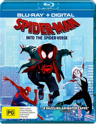 Spider-Man: Into the Spider-Verse (Blu-ray/Digital)  - BLU-RAY - NEW Region B