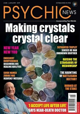 Psychic News magazine January Edition 2019 Makng Crystals, Crystal Clear
