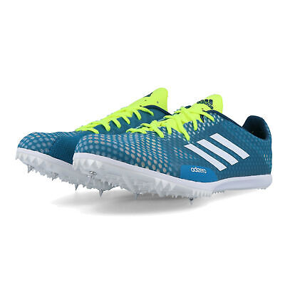 adidas Mens Adizero Ambition 4 Running Spikes Traction Blue Sports Breathable