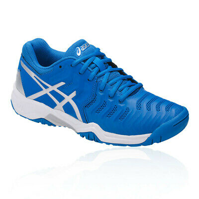 Asics Boys Gel-Resolution 7 GS Junior Tennis Shoes Blue Sports Breathable