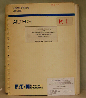 Eaton Ailtech. NM-37/57 Electromagnetic Interference Field Intensity Meter Instr