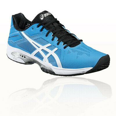 Asics Mens GEL-SOLUTION SPEED 3 Tennis Shoe Blue White Sports Breathable