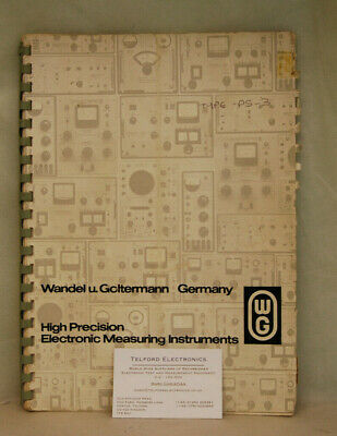 Wandel & Goltermann High Precision Electronic Measuring Instruments