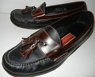 fe42dc98c40 Men s Cole Haan Country Kilt Tassel Loafers Shoes Black   Brown Leather US  8.5 M