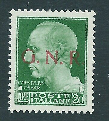 """1944 RSI """"IMPERIALE GNR 20 LIRE"""" MNH NUOVO EXTRA LUSSO** Firm. RAYBAUDI"""