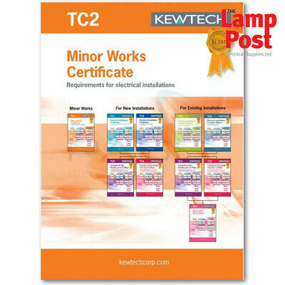 Kewtech Corporation TC2 Electrical Installation Minor Works Certificate
