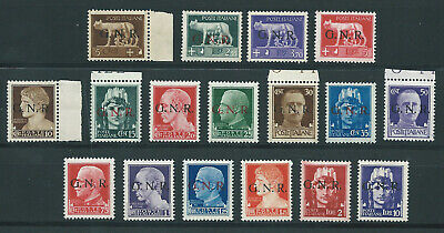 """1944 Rsi """"Imperiale Gnr"""" 17V Mnh Nuovi Extra Lusso**"""