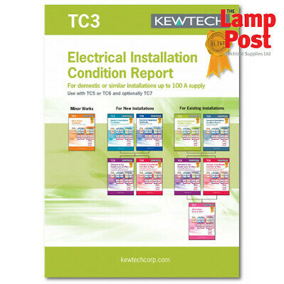 Kewtech Corporation TC3 Electrical Installation Condition Report Book