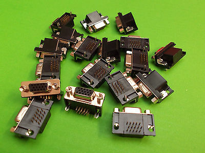 15 Way HD Dee High Density Right Angle D Socket Female 706HD-15-FBNR x 3pcs ONO