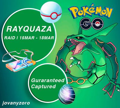 Pokemon Go Rayquaza X5 GUARANTEED CATCHES -LOW PRICE NOT BOT - Chance of Shiny