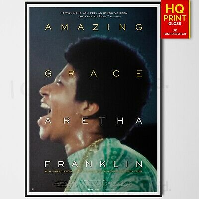Amazing Grace Music Concert Movie Film Print Poster Aretha Franklin A4 A3 A2 A1