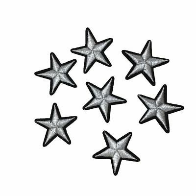 12pcs/pack 3D Star Applique Embroidery Patch Sticker Iron On Sew Cloth Patches