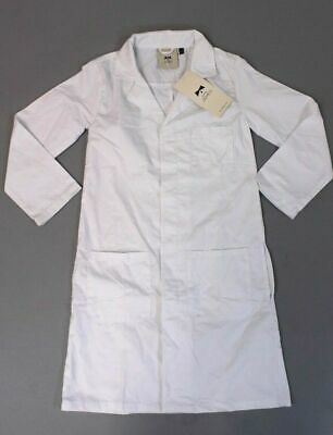 "Doctor James Unisex DR8 Junior Lab Coat 33"" AN3 White Size 10-12 NWT"