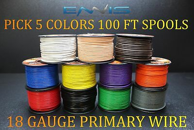 14 GAUGE WIRE ORANGE BY ENNIS ELECTRONICS 100 FT SPOOL PRIMARY AUTOMOTIVE AWG COPPER CLAD