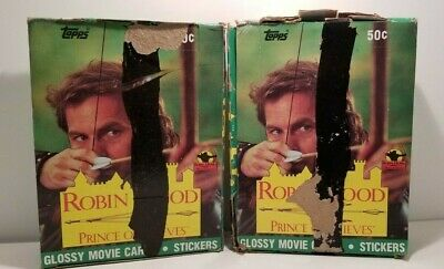 Robin Hood Prince of Thieves Collectible Trading Card Sticker Pack Box 2 BOX LOT