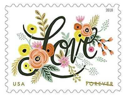 Love Flourishes 1 Sheet of 20 USPS First Class Forever Postage Stamps Wedding L