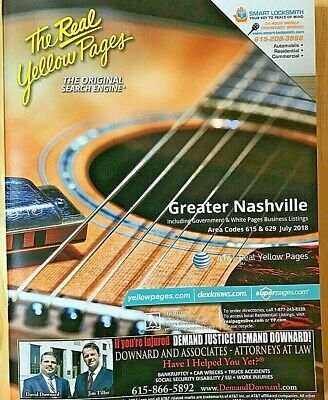 Nashville Yellow Pages Phone Book Area Codes 615 629 July 2018