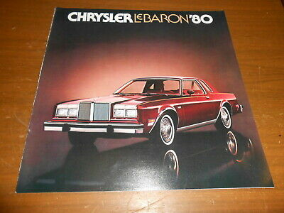 NOS Dealer Brochure 1978 Chrysler Lebaron 1970S
