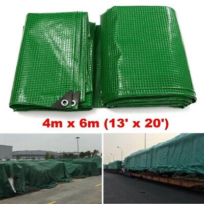 Tarpaulin Cover For Car Truck ATV Outdoor Camping Heavy Duty Waterproof 4 x 6 m