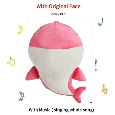 soft doll Baby Shark Plush animal Singing English Song Gift for kids music toys