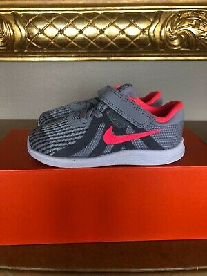2c1a583725 New NIKE REVOLUTION 4 Sneakers Shoes Girls Running Walking Size 8C 8 Gray  Pink
