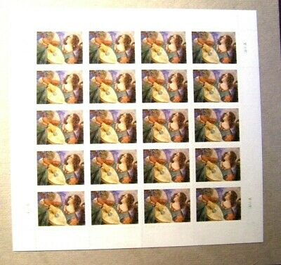 4477 Angel With Lute Full Pane (20) 44 Cent Stamp Usps Pkg Sealed