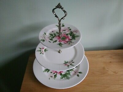 Laura Ashley Roses Ceramic 3 Tier Cake Stand