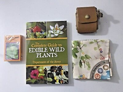Edible Plants Guide Book Lord + Field Canvas Gathering Bag SCIENCE NATURE NEW