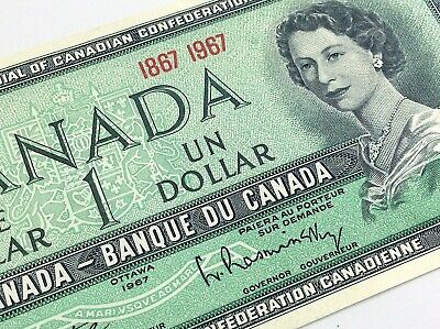 1967 Centennial Expo Canada 1 One Dollar Uncirculated Canadian Banknote I904